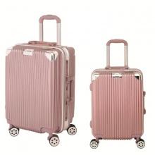 Bộ 2 vali khung nhôm Trip A06 size 50+60cm (20+24inch) vàng hồng