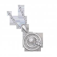 Mặt dây chuyền bạc PNJSilver Fantasia đính đá 92680.100