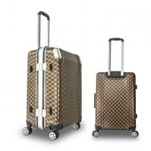 Bộ 2 vali khung nhôm Trip A08 size 50+60cm (20+24inch) cà phê