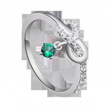 Nhẫn bạc đính đá màu xanh lá PNJSilver Fantasia ZTXMK000088