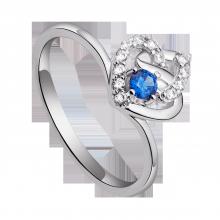 Nhẫn bạc đính đá màu xanh dương PNJSilver Fantasia ZTXMK000089