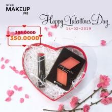 Quà tặng Valentine - Bộ mỹ phẩm má hồng và son dưỡng