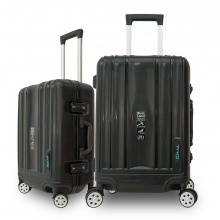 Bộ 2 vali khung nhôm Trip A09 size 50+60cm (20+24inch) đen
