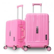 Bộ 2 vali khung nhôm Trip A09 size 50+60cm (20+24inch) hồng