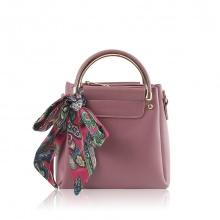 Túi xách thời trang Verchini màu hồng ruốc 02003551
