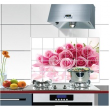 Decal dán bếp hoa hồng DB13