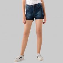 Quần short jeans nữ Papka xanh đen 4041