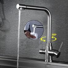 Vòi rửa bát 3 đường nước inox304 Zento SUS5570
