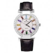 Đồng hồ nữ chính hãng Royal Crown 4604 dây da đen