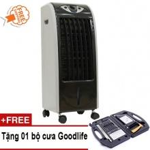 Quạt làm lạnh không khí Kachi QLM01 (đen) + Tặng bộ cưa Goodlife