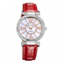 Đồng hồ nữ chính hãng Royal Crown 6116 dây da đỏ