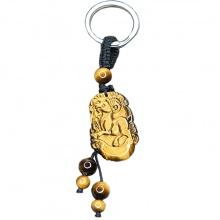 Móc khóa 12 con giáp đá mắt hổ vàng tự nhiên - Tuổi Mùi MKTIGYMUI08 VietGemstones