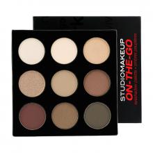 Bảng Phấn Mắt Bền Màu Ánh Nhũ - Studiomakeup On The Go Eyeshadow Palette SSP-02 - COOL DOWN