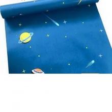 Combo 5m Giấy decal cuộn vũ trụ xanh BINBIN DT70