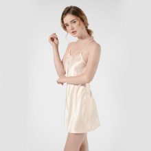 Đầm ngủ phi lua Wannabe dn606 thiết kế ren lưng dáng bút chì độc đáo (hồng cam)