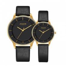 Đồng hồ cặp JA-957B JULIUS Hàn Quốc dây da (đen)