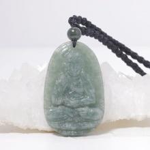 Phật bản mệnh A di đà cẩm thạch nước ngọc 5x3cm