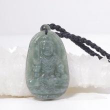 Phật bản mệnh bất động minh vương cẩm thạch nước ngọc 5x3cm