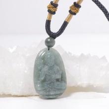 Phật bản mệnh Đại thế chí bồ tát Cẩm thạch nước ngọc 3.6x2.3cm