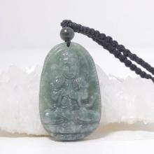 Phật bản mệnh Như lai đại nhật bồ tát Cẩm thạch nước ngọc 5x3cm