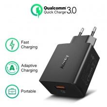 Củ sạc nhanh 1 cổng quick charger 3.0 Aukey PA-T17 (kèm cáp Type-C)