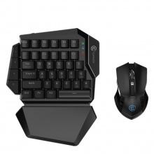 Combo bàn phím cơ một tay Gamesir Z2 và chuột không dây GM180 hỗ trợ chơi game Pubg, cho iPhone, Ipad và Android, PC