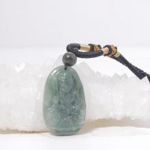 Phật bản mệnh Văn thù bồ tát Cẩm thạch nước ngọc 3.6x2.3cm