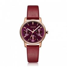 Đồng hồ nữ Hàn Quốc Julius Star JS023 dây da kính sapphire 6 kim (4 màu)