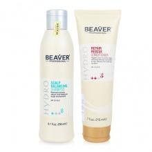 Combo dầu gội cho tóc dầu và dầu xả tái tạo tóc Beaver Hydro