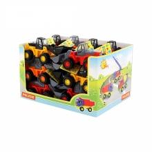 Bộ đồ chơi 18 xe xúc lật kèm hộp trưng bày Polesie Toys