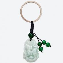 Móc khóa cẩm thạch phỉ thúy tuổi tý Ngọc Quý Gemstones