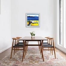 Tranh phong cảnh sơn dầu tranh in canvas khung composite W1883