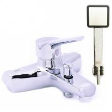 Bộ vòi sen nóng lạnh đồng mạ chrome Eurolife EL-5001 (trắng bạc)