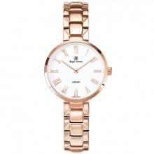 Đồng hồ nữ chính hãng Royal Crown 2601 dây thép vỏ vàng hồng