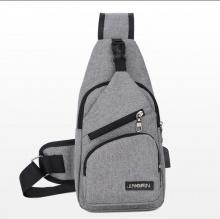 Túi đeo chéo nam vải cavas - manzo dc003 tích hợp cổng sạc usb - tặng dây cáp