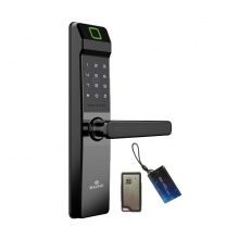Khóa cửa vân tay-thẻ-mật mã-điều khiển Baling NF21 (màu đen)