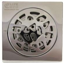 Hố ga thoát sàn inox 10x10cm Eurolife EL-X13 (trắng bạc)