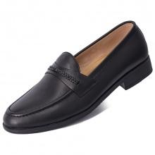 Giày lười GL38 trơn nơ cách điệu da bò