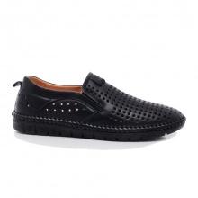 Giày lười đục lỗ GL12 đen công nghệ 4.0