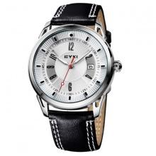 Đồng hồ nam dây da NTEK008 (đen)
