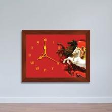 Tranh đồng hồ hình Song Mã - đồng hồ giá rẻ WC073