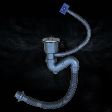 Bộ xi phông ống xả chậu rửa bát 1 hố XP318