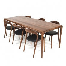 Bộ bàn ăn Latus -  Neva màu walnut 6 ghế