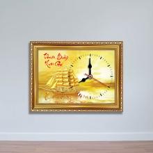 """Tranh đồng hồ chữ """"Thuận Buồm Xuôi Gió"""" - đồng hồ hand made WC085"""