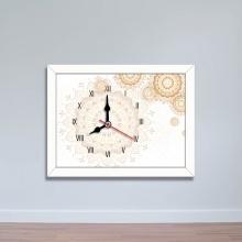 Tranh đồng hồ họa tiết hoa cổ điển - đồng hồ để bàn WC091