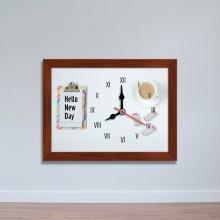 Tranh đồng hồ hình tách cà phê - đồng hồ để bàn WC094