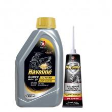 Bộ dầu nhớt xe tay ga Caltex Havoline SuperMatic 4T SAE 10W-40 800ml kèm nhớt hộp số xe tay ga