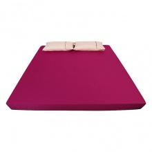 Ga bọc đệm và vỏ gối đơn ( 1 màu ) 160 x 200 cm - tím hồng
