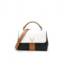 Túi da thật nắp V A25 (4 màu)