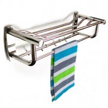 Kệ treo khăn tắm inox đa chức năng Eurolife EL-B8 (trắng bạc)